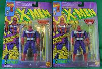 2 X-Men Evil Mutants Figure Senyaka 1994 Toy Biz Marvel Fleer Cable Wedding Card