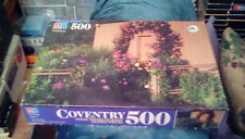 "1996 MB Milton Bradley Coventry Jigsaw Puzzle Climbing Rose 14"" x 20"" (500 pc)"