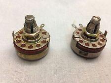 2 x Allen Bradley 200k AB  type J Potentiometers Locking Tube Amplifier Pot