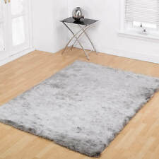 Soft Silky Luxuries Shiny Heavy Shaggy Rug Silver 120 X 170 Cm Grey Carpet