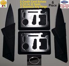 Credit Card Knife Lot folding wallet thin pocket survival sharp micro multi tool