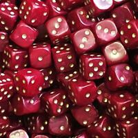 D6 - 12mm Red Pearl (20)