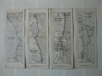 Vintage AAA 1920's Strip Road Maps - LOS ANGELES TO SAN DIEGO - Lot of 7