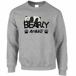 Lazy Panda Sweat-shirt Bearly Awake Pun Slogan