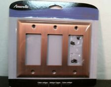 Amerelle 163Rrrac Antique Copper 3 Rocker Wall Switch, Free Shipping