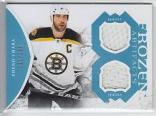 2011-12 UD ARTIFACTS ZDENO CHARA JERSEY DUAL /135 BLUE FROZEN GAME USED Bruins