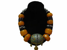 Moroccan african Berber  artisan Amber Beaded necklace