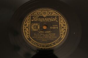 "78 RPM 10"": Pete Brown - Mound Bayou / Unlucky Woman - Brunswick Records 03409"