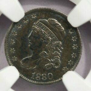 1830 Capped Bust Half Dime H10c NGC Uncirculated Unc Details cleaned NICE!