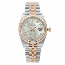 Rolex Datejust Steel 18K Rose Gold Diamond MOP Dial Automatic Watch 126231MDJ