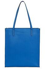 Neues AngebotJaeger Jennifer blau Leder Handtasche Schulter Shopper Tasche UVP £ 120! NEU!!!