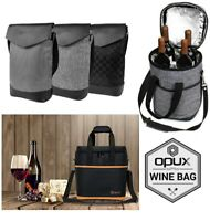 Wine Carrier Bag Insulated 2 3 4 6 Bottle Cooler Protection Carrying Tote Travel