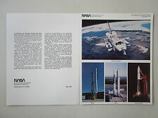 DOCUMENT NASA ESPACE SPACE SHUTTLE SCOUT DELTA ATLAS CENTAUR RECTO/VERSO