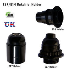 Screw E27/E14 Light Bakelite Bulb Vintage Lamp Holder Base Pendant Socket UK