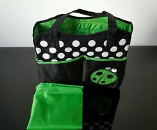 Baby Child Nappy Dipper Changing Should Hand Bag New in Green
