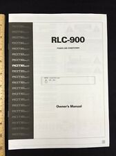 Rotel RLC-900 Power Line AC Conditioner Owners Manual 4 Pages rlc900