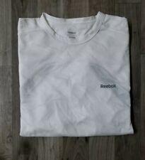 Reebok Play Dry Short Sleeve Crew Neck White W/Black Shirt Size Xl