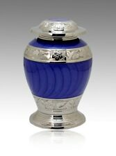 Avondale Purple and Silver cremation Urn, Infant urn, Brass Urn, Handcrafted!