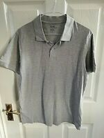 TEX MENS GREY POLO SHIRT SIZE SMALL SHORT SLEEVE PIT TO PIT 19 INCH