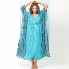 Türkis lang Kaftan Frauen Maxi Kleid Plus Größe Kleidung Abendkleid Kleid