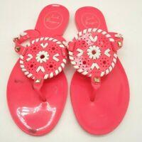Jack Rogers Hot Pink Flower Jelly Casual Slide Flip Flop Sandals Shoes Girls 2 Y