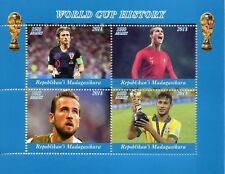 Madagascar 2018 CTO Football World Cup History Ronaldo Kane 4v M/S I Stamps