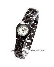 OMAX da donna orologio quadrante bianco, finitura nera, Seiko (Giappone)