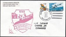 US  Navy Postal Cover - SSN 770, USS Tucson - Change of Command   -  B6506