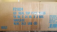 "Elkay F21824 2 mil Line Single Track Seal Top Bag, 18"" x 24"", Clear Pack of 500"