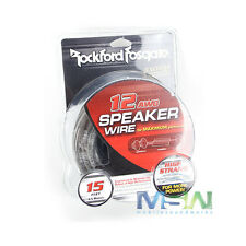 ROCKFORD FOSGATE RFWP12-15 12-AWG GAUGE CAR AUDIO STEREO SPEAKER WIRE - 15 ft.