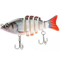 "3.5""/4"" Multi Jointed Crank Bass Pike Fishing Hard Bait Swimbait Lure Life-like"