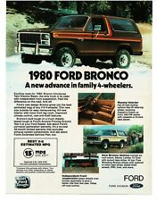 1980 Ford BRONCO Brown 4wd 4x4 VTG PRINT AD