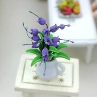 Mini Dollhouse Miniature Green Flower in Pot Fairy Garden Accessories