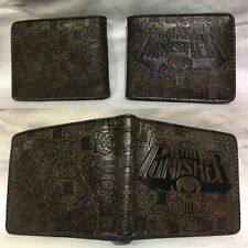 Punisher Marvel Comics Heroes Wallet Brown Coins Cards Notes