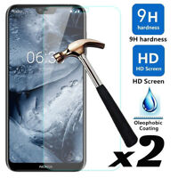2Pcs 9H Hardness Premium HD Tempered Glass Screen Protector Cover For Nokia X6