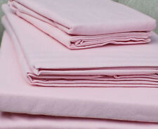 Pair Luxury 100% Brushed Cotton Pillowcases in Pink 160 gsm Flannelette
