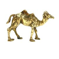 Vintage Brass Bactrian Mongolian Camel Figurine Desert Animal Home Decor