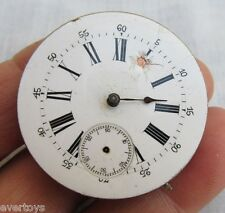 OLD POCKET WATCH, MACHINERY ONLY, NO MAKER, FOR RESTORE REPAIR OR PARTS, NOT RUN