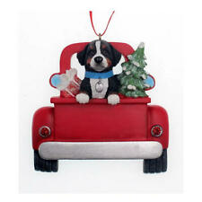 Bernese Mountain Dog In Back of Truck Ornament