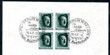 DR 1937 BLOCK8 SST BERLIN AUSSTELLUNG 30€(F3366