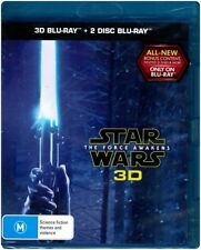 """STAR WARS: THE FORCE AWAKENS 3D"" Blu-ray, 3 Disc Set - Region Free [A,B,C] NEW"