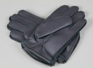 Unused Vintage Leather Gloves - Size 8 - Grey With fur Lined Ca 86 Size / 5