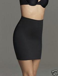 """Flexees Fat Free Dressing Slip Skirt 17"""" Length #2458 Black NWT"""