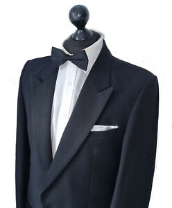 Mens ANDREAS WEBER for MOSS BROS Vintage Black Tuxedo Dinner Suit Jacket 40L VGC