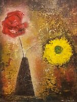 """NEW ISABELLE AMANTE ORIGINAL """"These Won`t Wilt"""" Flowers Still Life PAINTING"""