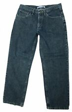 Lee Relaxed Straight Leg 33 x 30 Dark Wash Jeans