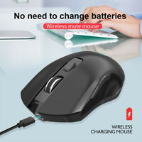 2.4G USB Wireless Mouse 2400DPI Adjustable Rechargeable Colorful Lighting Game B