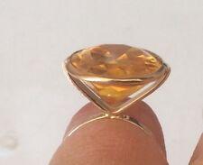 18k Gold Citrine Ring Size 5 New