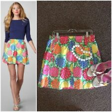 Lilly Pulitzer Cissy Skirt In Multi Zinny Print Womens Size XS 100% Cotton
