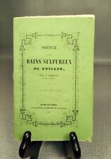 LAMBERT NOTICE SUR BAINS DE GUILLONS DOUBS FRANCHE COMTE 1860 BAUME LES DAMES